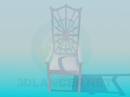 modelo 3D Silla-web - escuchar