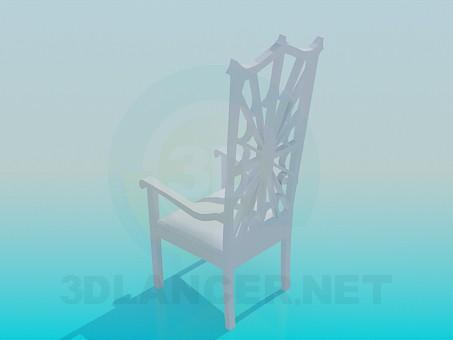 3d модель Стул - паутина – превью