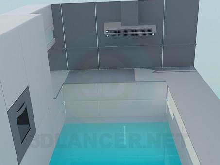 modelo 3D Cocina en estilo high-tech - escuchar