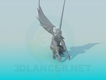 3D modeli Çirkin yaratık - önizleme