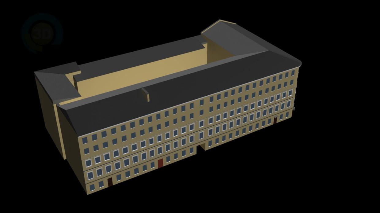 3d модель Будинок за адресою 3-я лінія ВО д. 58 – превью