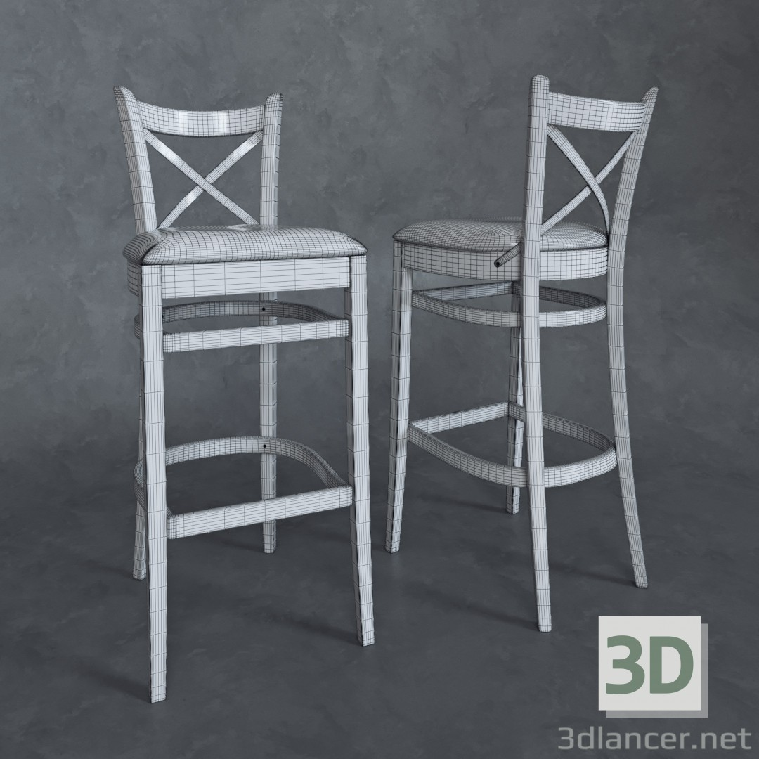 3d Bar stools Toscana model buy - render
