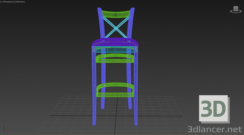 3d Барный стул Toscana модель купить - ракурс