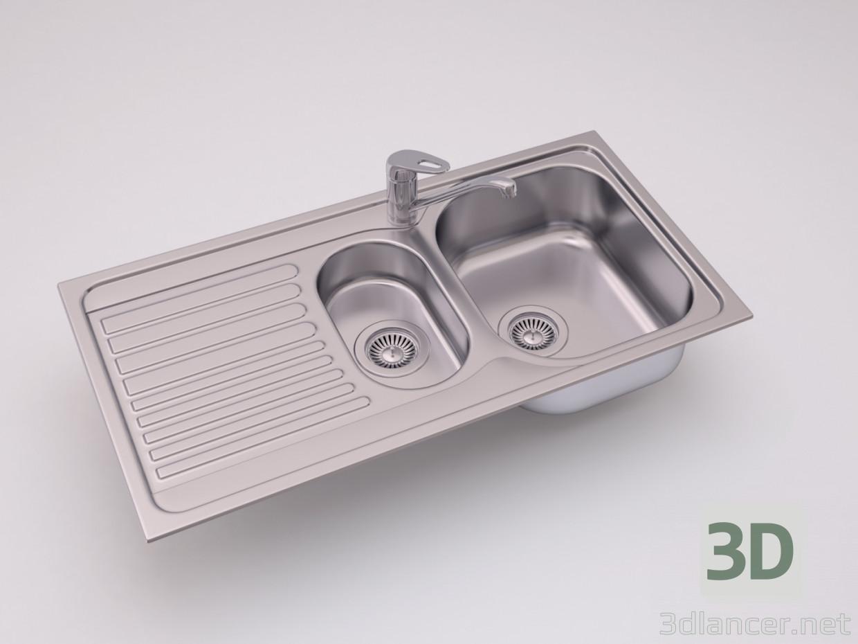 3D-Modell Blanco TIPO 6S Grundlegendes Küchenspüle herunterladen ...