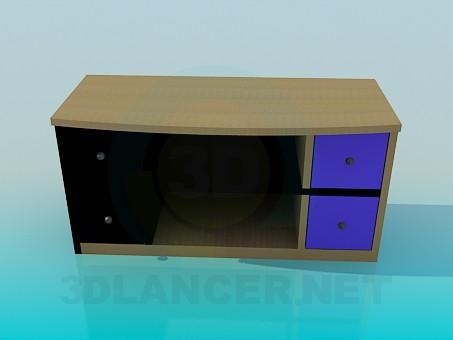 3d modeling Cupboard for TV model free download