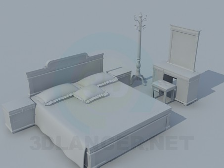 3d modeling The furniture in the bedroom model free download