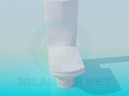 3d моделювання Унітаз з високим зливним бачком модель завантажити безкоштовно