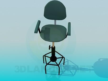 3d model Taburete con las piernas altas - vista previa