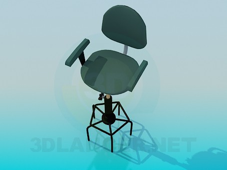 3d model Stool with high legs - preview