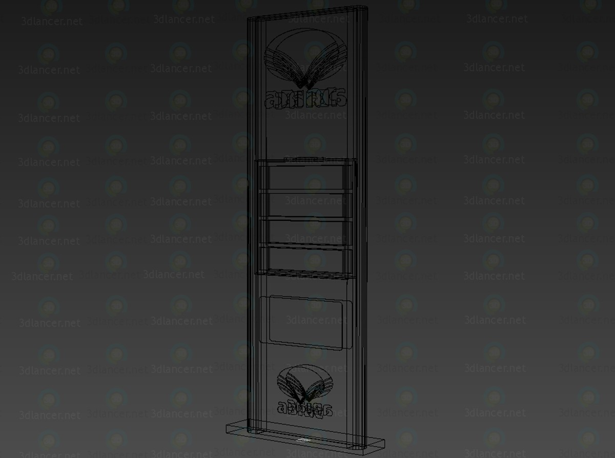 3d model Price pylon for a gas station - preview