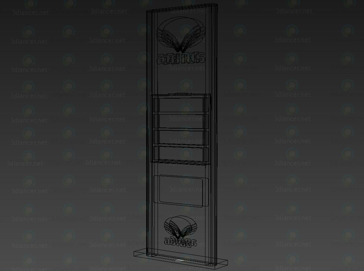 modelo 3D Pilón de precio para una estación de gas - escuchar