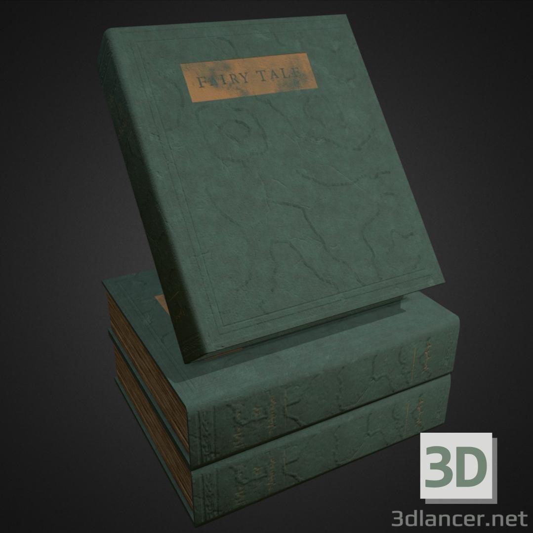 3d HQ Old Book (FairyTale) model buy - render