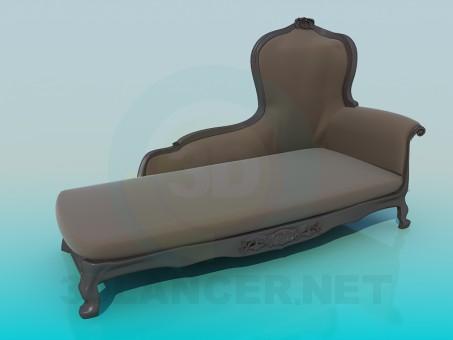 modelo 3D Sofá antiguo - escuchar