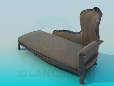 3d model Antique Sofa - preview