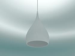 Lampada a sospensione rotante (BH1, Ø25cm, H 45cm, bianco opaco)