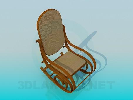 modelo 3D Silla mecedora - escuchar