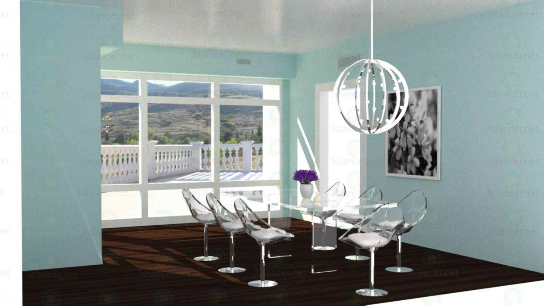 3d модель Блакитна кімната – превью