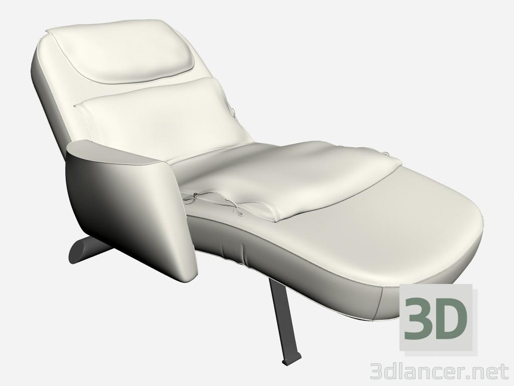 3d modeling Deck chair with armrest Sax model free download
