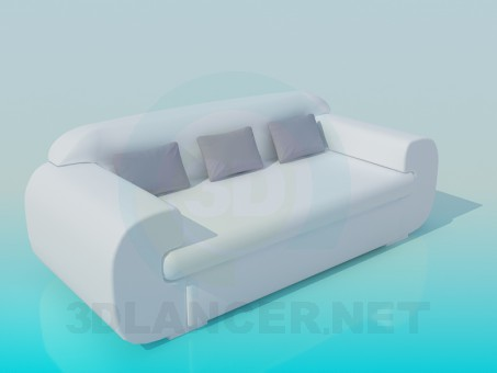 3d modeling Modern Sofa model free download