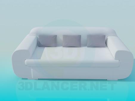 modelo 3D Sofá moderno - escuchar