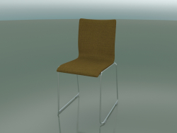 Upholstered chair with fabric upholstery (107)