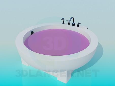 3d модель Круглая ванна – превью