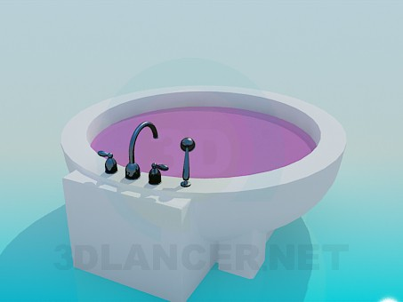 modelo 3D Bañera autosoportada - escuchar