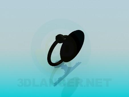 modelo 3D Manija de la puerta con un anillo - escuchar