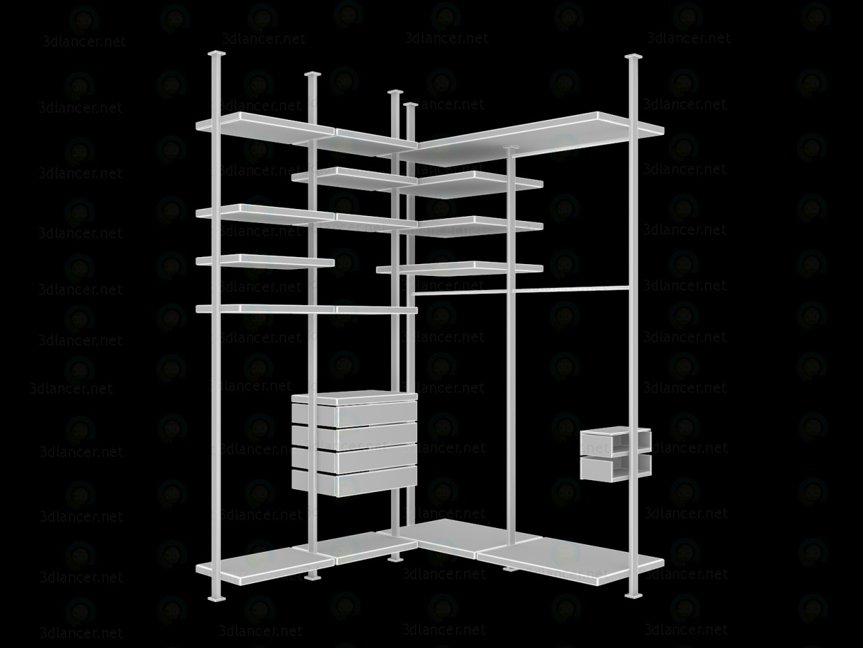 3d модель Современная гардеробная 1680х1870х2830(h)мм – превью