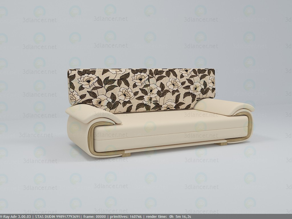 3d model Sofa LANO LUX 3DL - preview