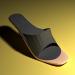 3d модель Тапочки с каблуком женские – превью