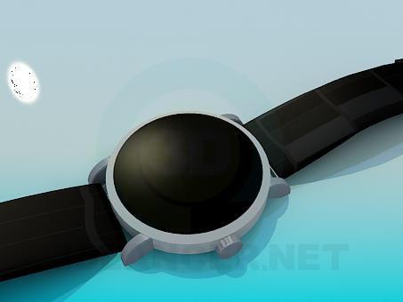 modelo 3D Reloj de pulsera - escuchar