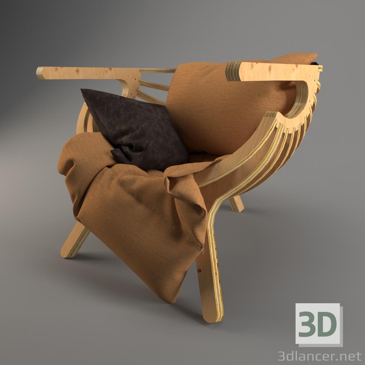 3 डी कुर्सी मॉडल खरीद - रेंडर