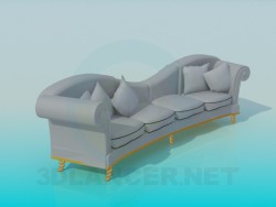 Sofa with pillows