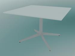 Tavolo MISTER X (9510-51 (70x70cm), H 50cm, bianco, bianco)