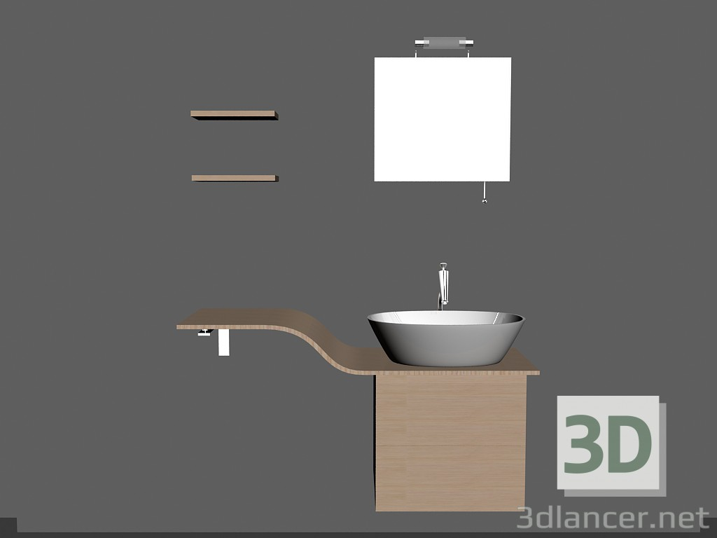 3d model Modular system for bathroom (song 3) - preview