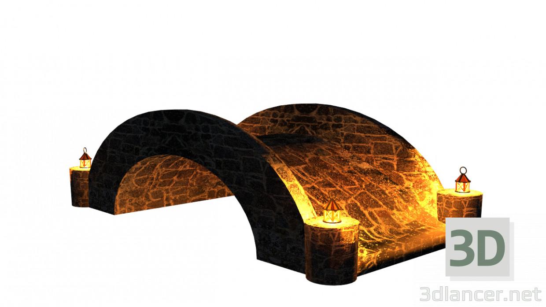 3 डी मॉडल स्टोन पुल - पूर्वावलोकन