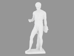 Marble statue of Discophore