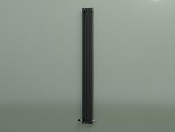 Radiateur vertical RETTA (4 sections 2000 mm 60x30, noir brillant)