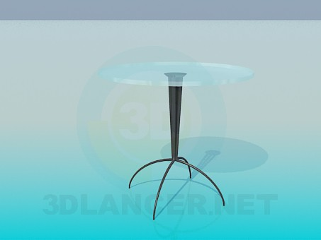 3d model Table with round-headed stalk - preview