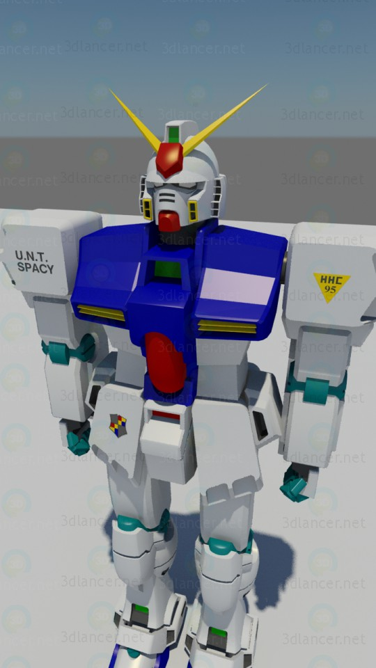 The character Gundam paid 3d model by Георгий_2017 preview