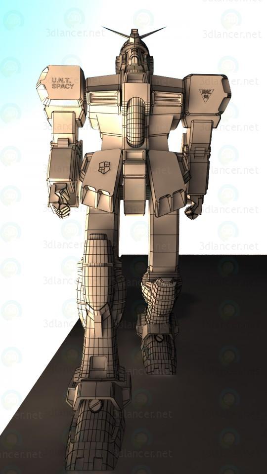 El carácter de Gundam 3D modelo Compro - render