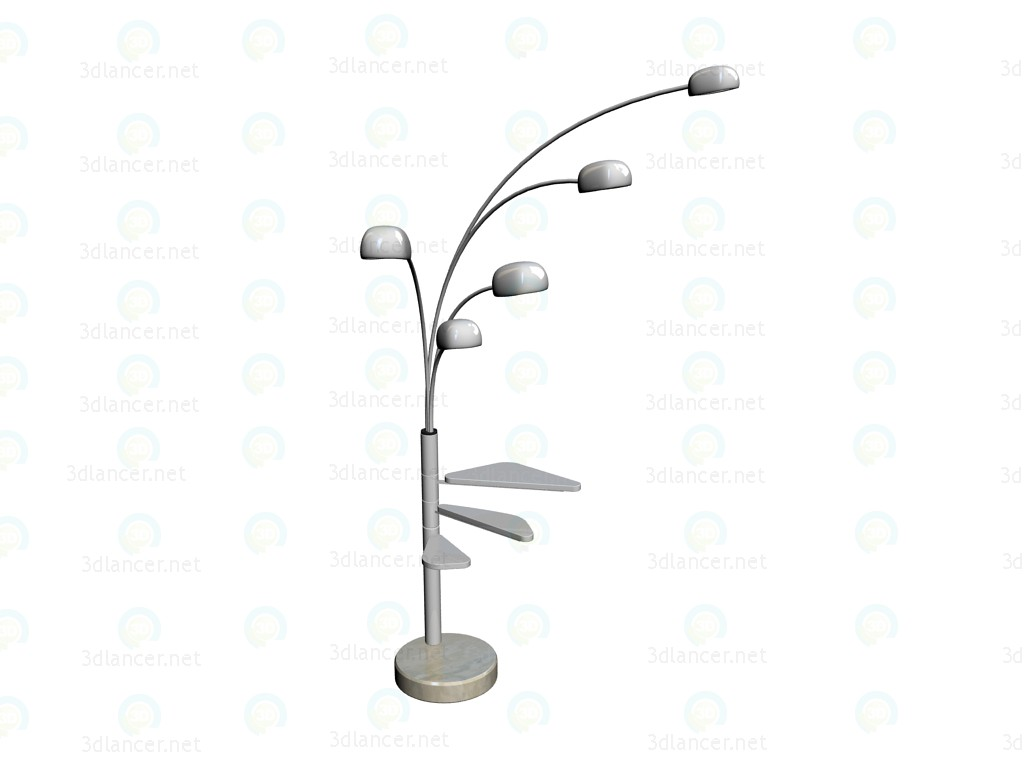 "3d model Floor Lamp ""Five Fingers White Table"" - preview"