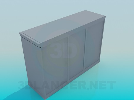 3d model Bedside table with drawers - preview