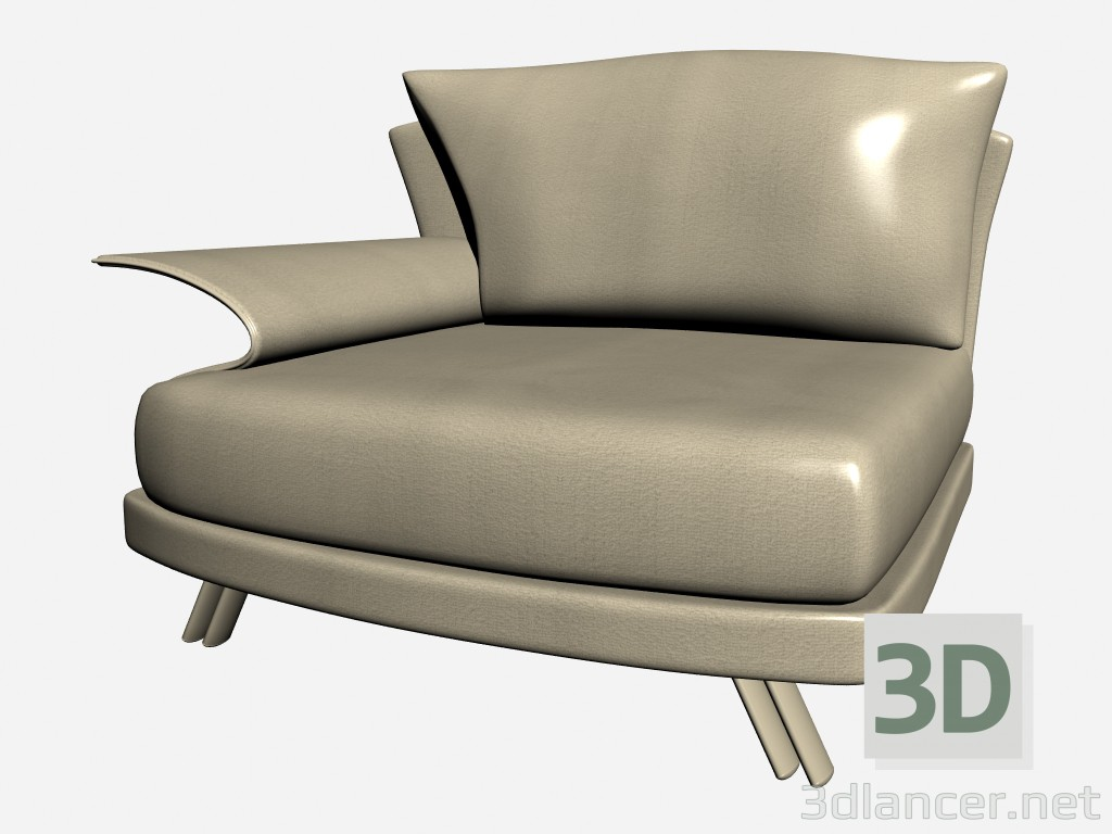 3d model Armchair Super roy - preview
