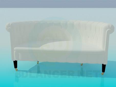 3d модель Диван классический – превью