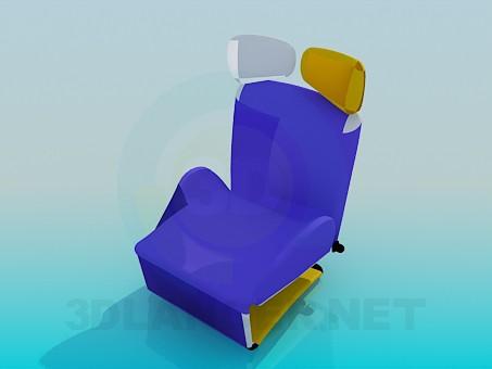 modelo 3D Convertible de asiento - escuchar
