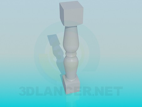 3d model Gypsum part of the railings - preview