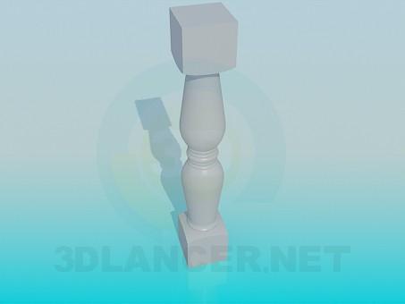 3d модель Гіпсова частина перила – превью
