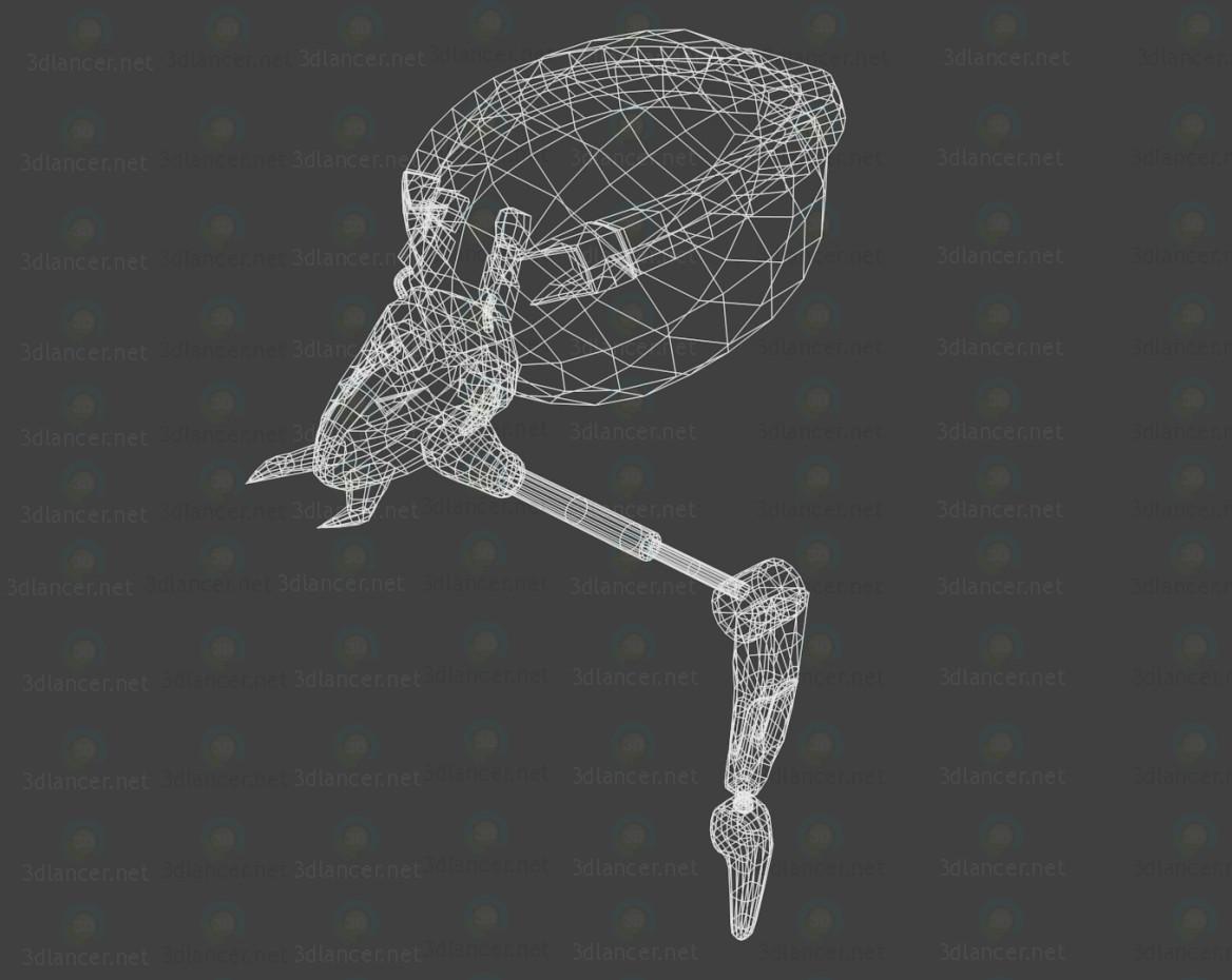 modelo 3D araña Robot - escuchar